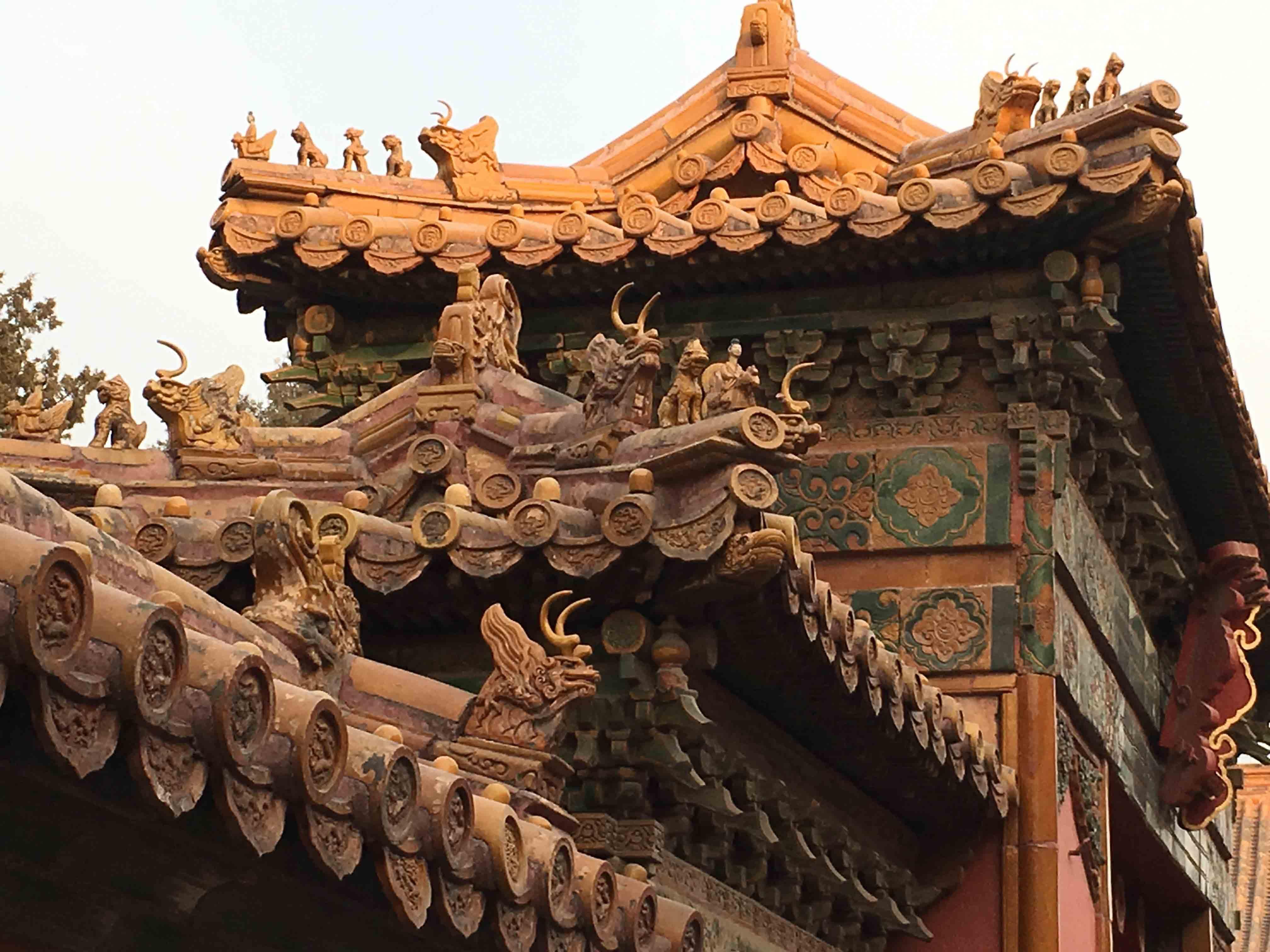 A pekingi villámlátogatás során ilyen épületeket is megcsodálhattunk.